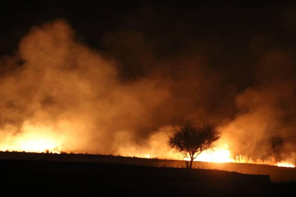 خبرنگاران ارتفاعات بالا دست مال آقا در شهرستان باغملک آتش گرفت