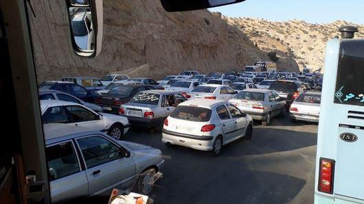 ترافیک سنگین در محور حمیل-ایلام ، تردد پرحجم در جاده های منتهی به مرز ها