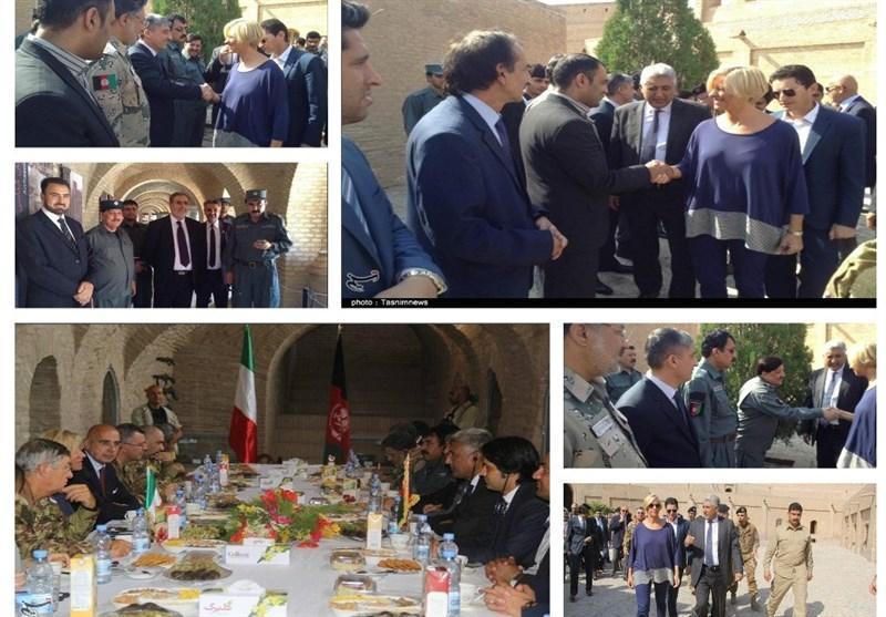 سفر وزیر دفاع ایتالیا به هرات برای نخستین بار در یک دهه گذشته
