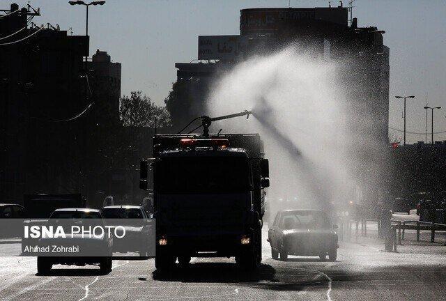 استمرار ضدعفونی معابر بیرجند توسط پلیس ویژه خراسان جنوبی