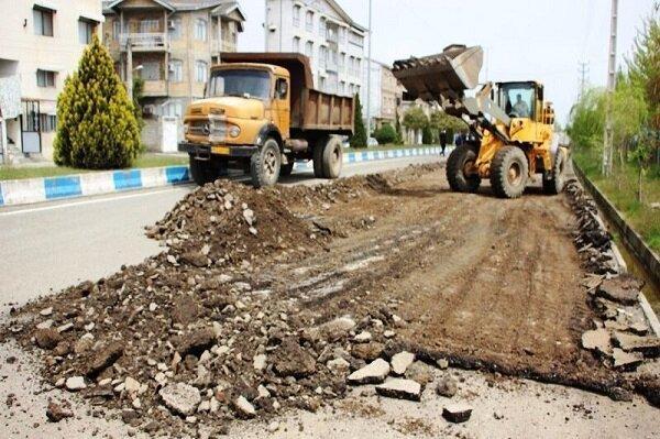 آغاز زیرسازی و آسفالت خیابان بندر آستارا