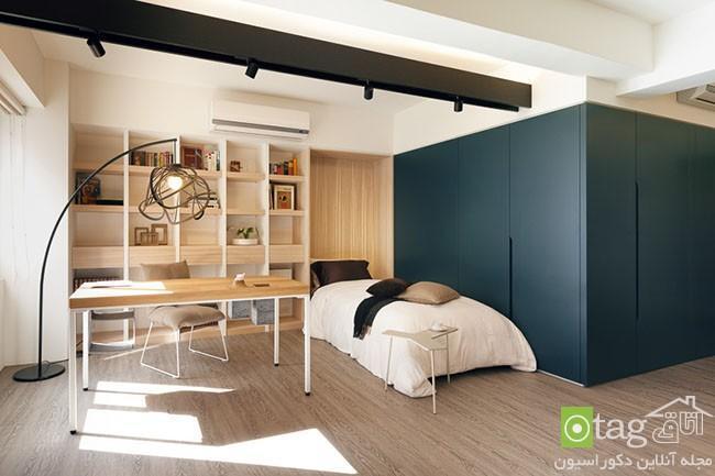 آپارتمان بسیار کوچک با چیدمان ساده و هوشمندانه در فضا