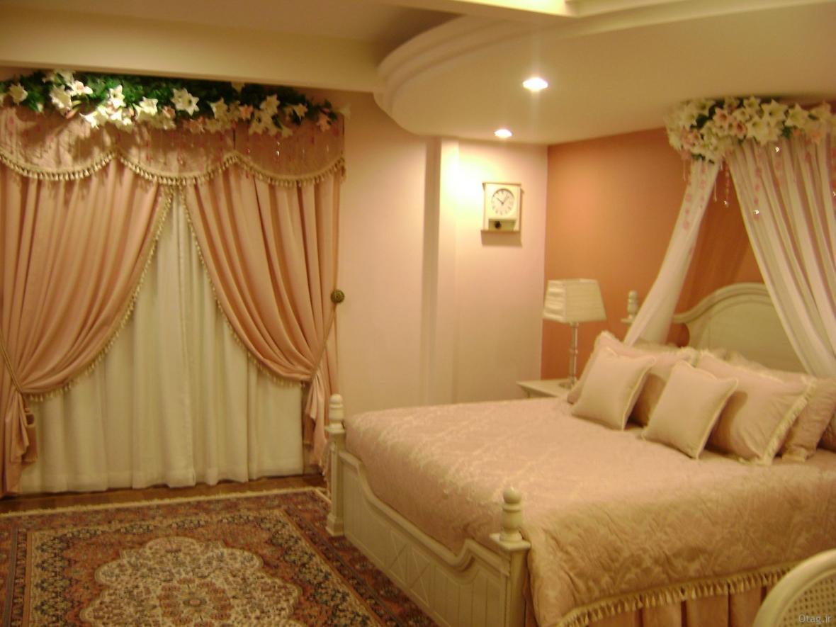 دکوراسیون اتاق خواب عروس با طرح های عاشقانه و رمانتیک