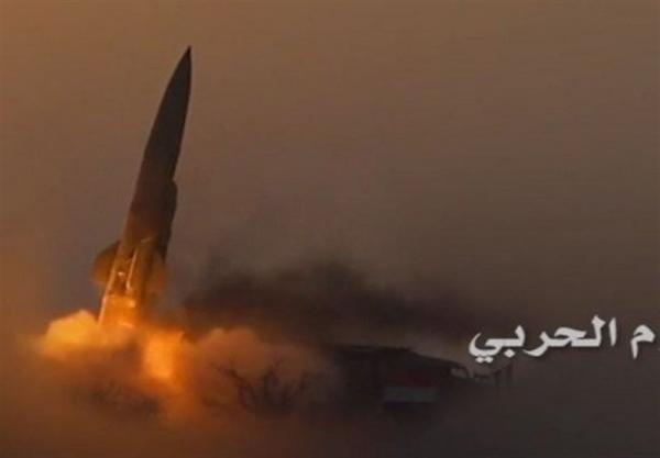 شلیک موشک بالستیک به سمت مواضع شبه نظامیان ائتلاف سعودی در مأرب