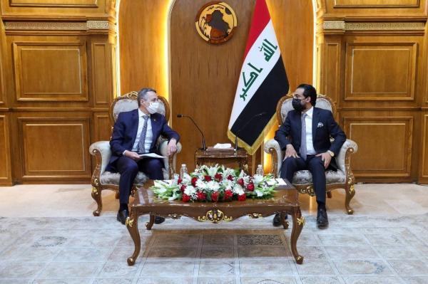 خبرنگاران رییس مجلس عراق با وزیر خارجه سوییس ملاقات کرد